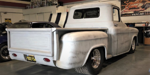 Image for 1955 Grey Chevrolet Pick Up post
